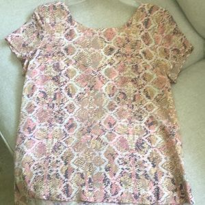 Flynn and Rose Pink Snake Print *NEVER BEEN WORN*
